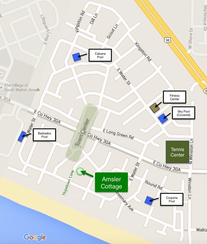 Rosemary Beach map