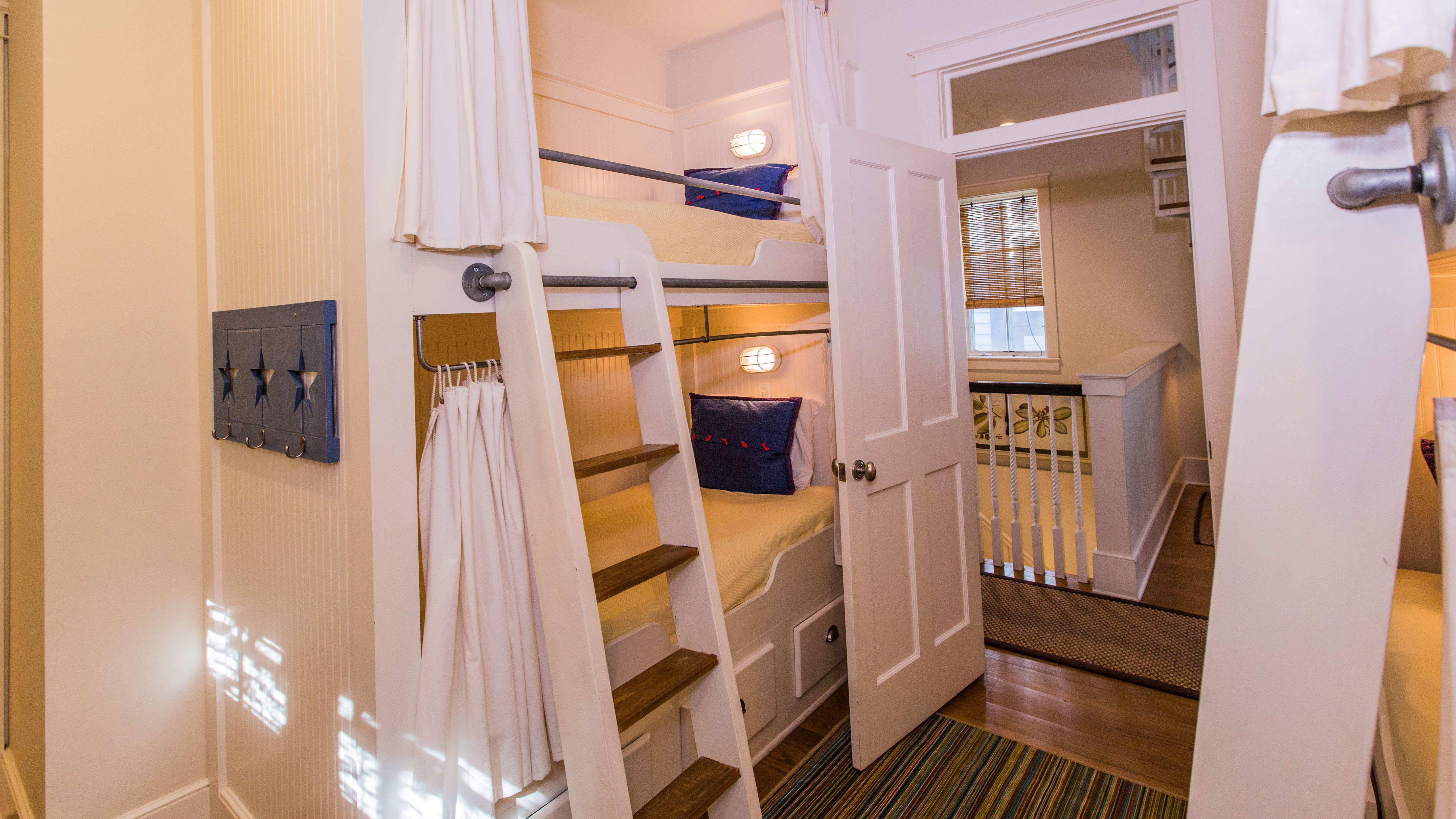 Each bunk has an individual reading light